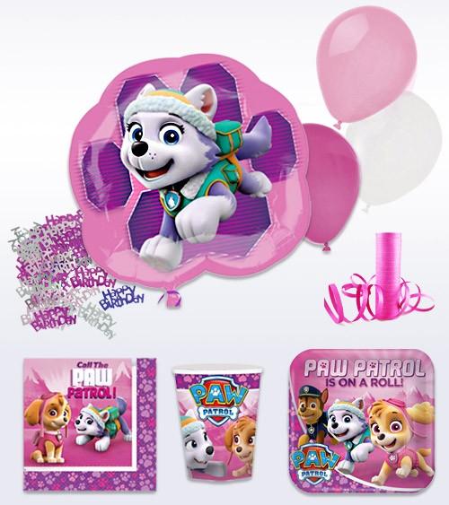 """Geburtstags-Deko-Set """"Paw Patrol Pink"""" - 47-teilig"""