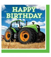 "Servietten ""Traktor"" - Happy Birthday - 16 Stück"