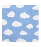 """Servietten """"Wolken"""" - hellblau - 20 Stück"""