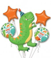 "Folienballon-Set ""Dino-Birthday"" - 5-teilig"