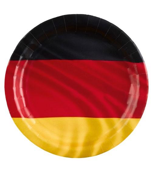 """Pappteller """"Deutschlandfahne"""" - 8 Stück"""