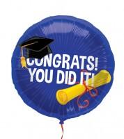 """Runder Folienballon """"Congrats"""" - 45 cm"""