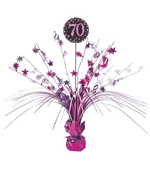 """Tischaufsteller """"Sparkling Pink"""" - 70. Geburtstag"""