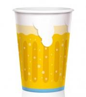 """Große Pappbecher """"Bier"""" - 450 ml - 6 Stück"""