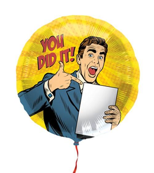 "Runder Folienballon ""You did it!"" - 45 cm"