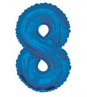 "Supershape-Folienballon ""8"" - dunkelblau"