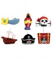 "Figuren-Kerzen-Set ""Pirat"" - 6-teilig"