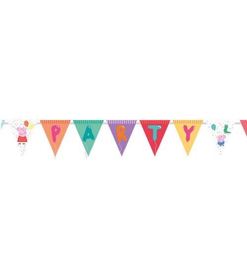 """DIY Party Wimpelgirlande """"Peppa Wutz"""" - 3,3 m"""