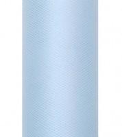 Tischband aus Tüll - skyblue - 15 cm x 9 m