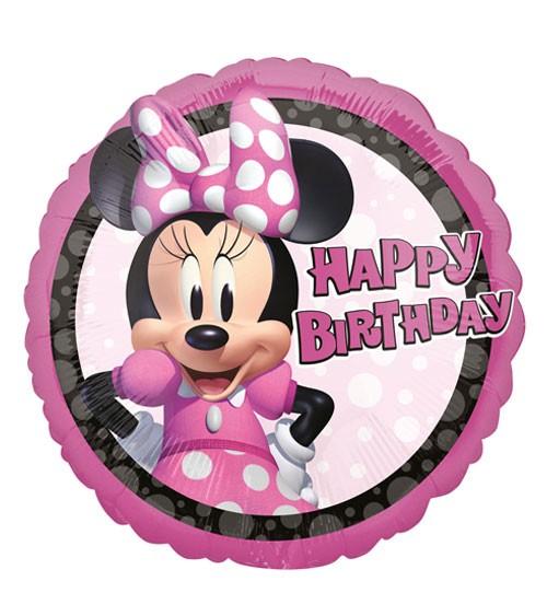 "Runder Folienballon ""Minnie Mouse"" - Happy Birthday - 43 cm"