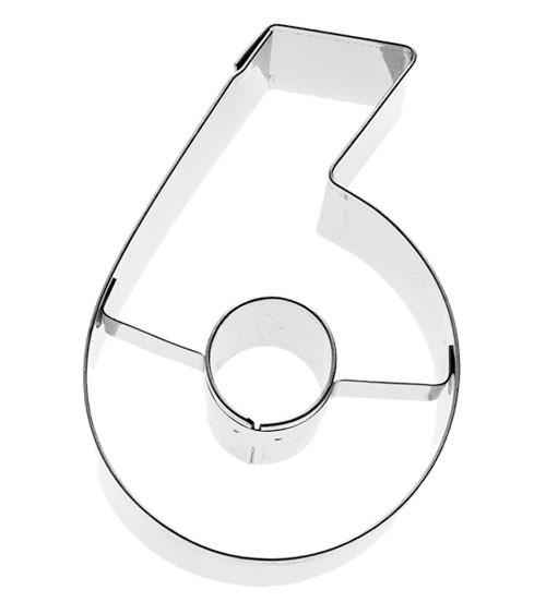 """Ausstechform Zahl """"6"""""""