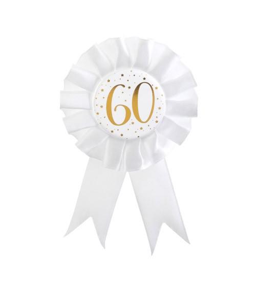 """Geburtstagsorden """"60"""" - weiß, gold"""