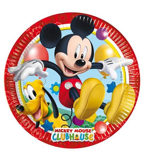 """Pappteller """"Micky Maus Wunderhaus"""" - 8 Stück"""