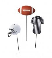 """Centerpiece-Sticks """"Football"""" - 3 Stück"""