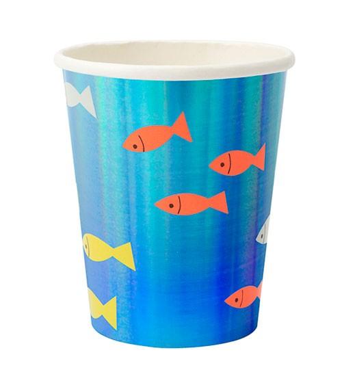 """Pappbecher """"Under the Sea"""" - 8 Stück"""