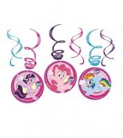 """Spiralgirlanden """"My Little Pony - Magie"""" - 6 Stück"""