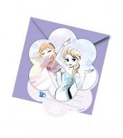 """Einladungskarten """"Frozen Sparkle"""" -  6 Stück"""
