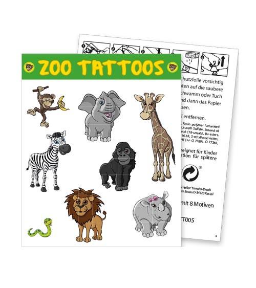 """Tattoos """"Zoo"""" - 8 Stück"""