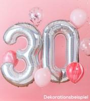 """Ballon-Deko-Set """"30. Geburtstag"""" - irisierend/rosa - 8-teilig"""