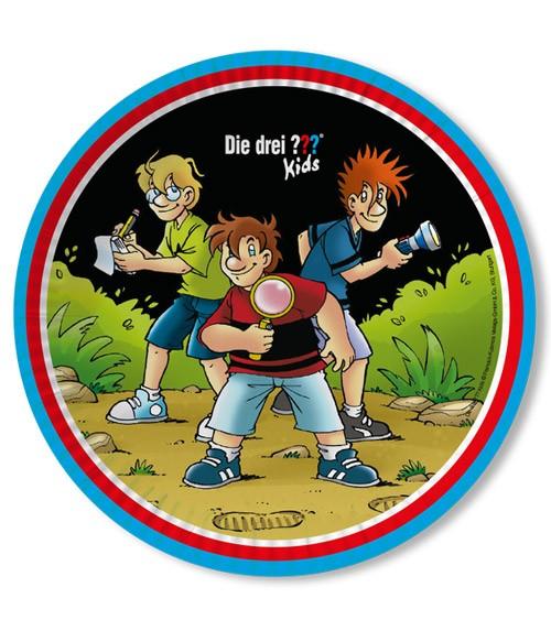 """Pappteller """"Die drei Fragezeichen Kids"""" - 8 Stück"""