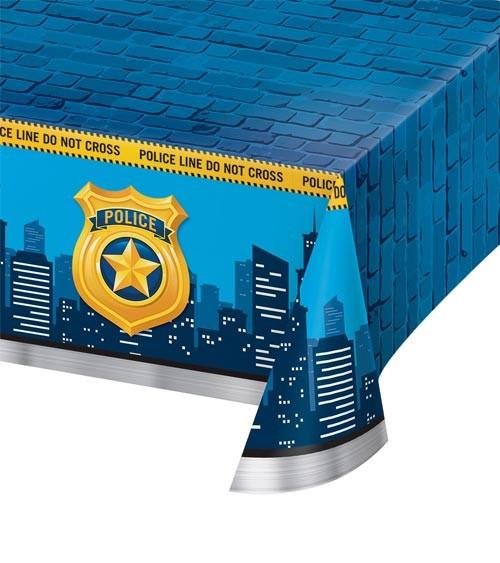 """Kunststoff-Tischdecke """"Polizei Party"""" - 137 x 259 cm"""