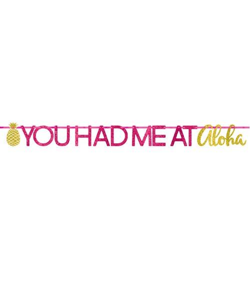 "Glitter-Girlande ""You had me at Aloha"" - 3,65 m"