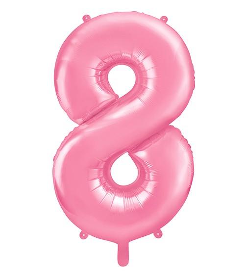 "Supershape-Folienballon ""8"" - rosa - 86 cm"