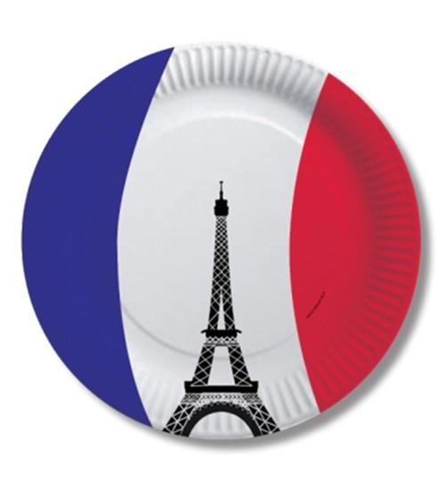"""Pappteller """"Frankreich"""" - 10 Stück"""
