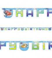 "Happy Birthday-Girlande ""Cars Ice Racer"" - 2,1 m"
