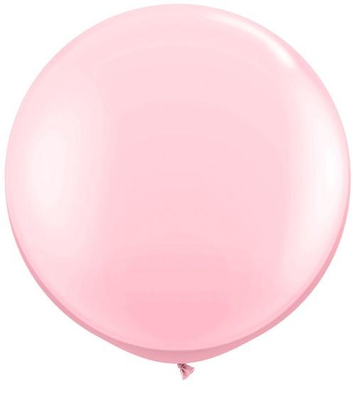 Riesiger Rundballon - rosa - 90 cm
