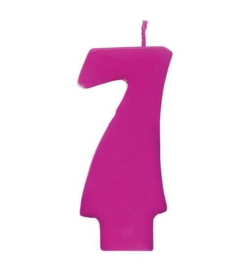 """Geburtstagskerze """"7"""" - pink"""