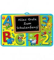 """3D-Wanddekoration """"Schulanfang"""" - 58 x 38 cm"""