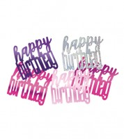 "Streukonfetti ""Happy Birthday"" - pink - 14 g"