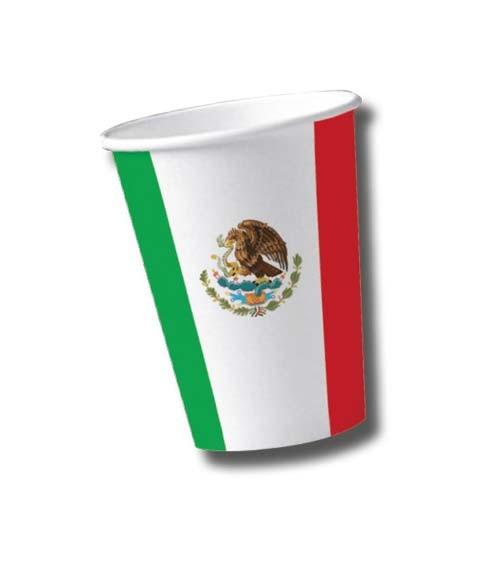 "Pappbecher ""Mexico"" - 10 Stück"