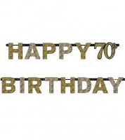 "Happy Birthday-Girlande ""Sparkling Celebration"" - 70. Geburtstag"