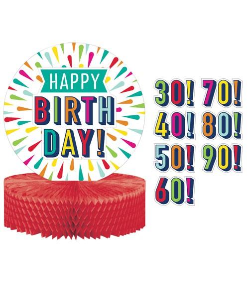 """Wabenaufsteller mit Stickern """"Birthday Colours"""" - 23 x 30 cm"""