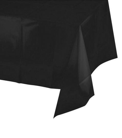 Schwarze Tischdecke