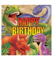 "Servietten ""Dinosaurier Happy Birthday"" - 16 Stück"