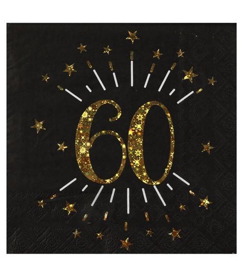 """Servietten """"Sparkling Gold"""" - 60. Geburtstag - 10 Stück"""
