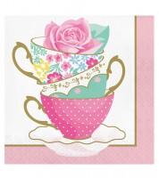 "Servietten ""Floral Tea Party"" - Teacup - 16 Stück"