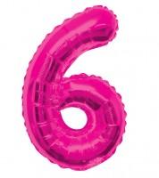 "Supershape-Folienballon ""6"" - pink"