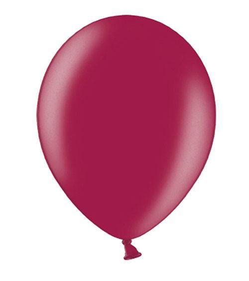 Metallic-Luftballons - maroon - 10 Stück