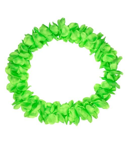 Hawaii-Kette aus Stoff - neon grün