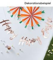 "Schriftzuggirlande ""Happy Hoppy Easter"" - rosegold - 1,5 m"