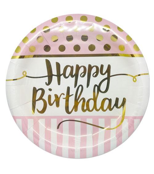 "Pappteller ""Rosa Party"" - Happy Birthday - 8 Stück"