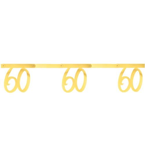 """Zahlengirlande aus Papier """"60"""" - metallic gold - 2,5 m"""