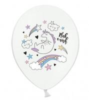 """Luftballons """"Einhorn und Sterne - 6 Stück"""