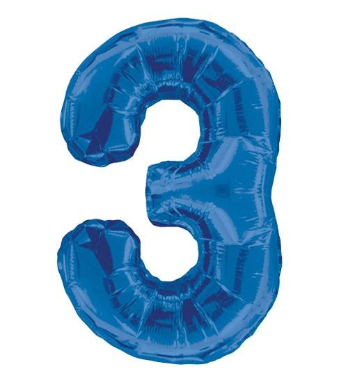 "Supershape-Folienballon ""3"" - dunkelblau"