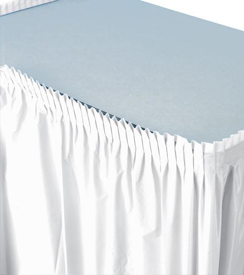 Tischverkleidung - weiß - 4,26 m
