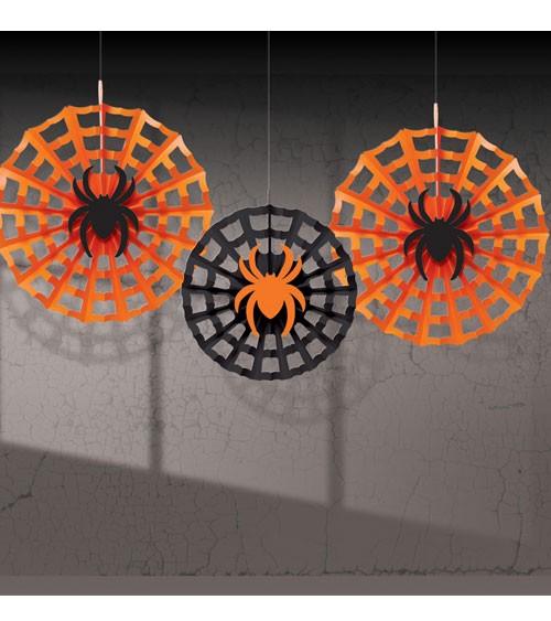 """Papierfächer-Set """"Spinnennetz"""" - 3-teilig"""